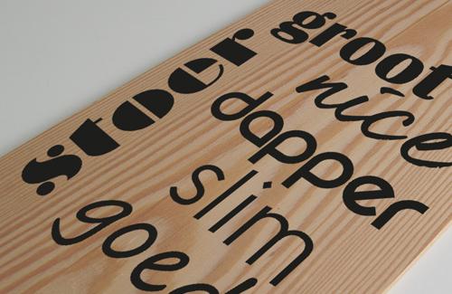 nummerstickers tekst op hout 1 decoratie zuid-scharwoude