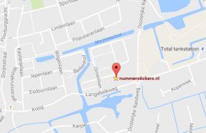 nummerstickers google maps elzenlaan zuid-scharwoude